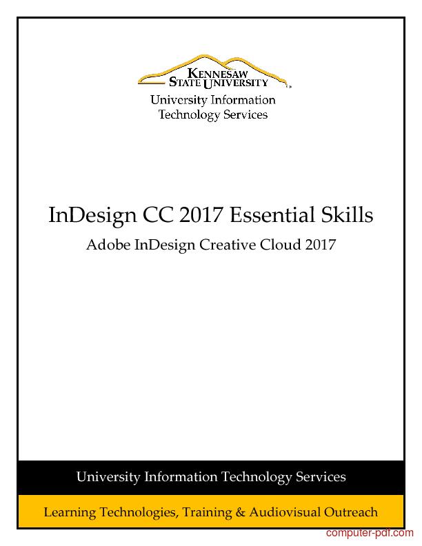 Tutorial InDesign CC 2017 Essential Skills 1