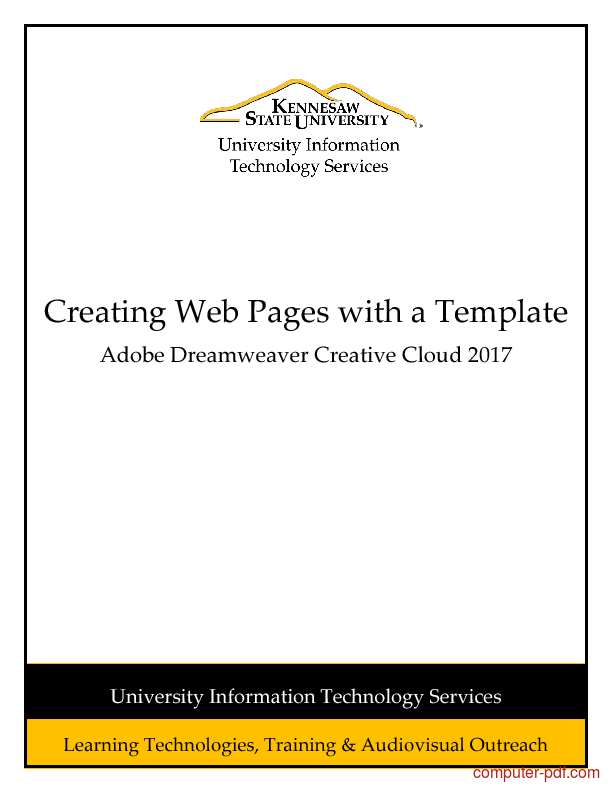Tutorial Dreamweaver CC 2017 - Creating Web Pages with a Template 1