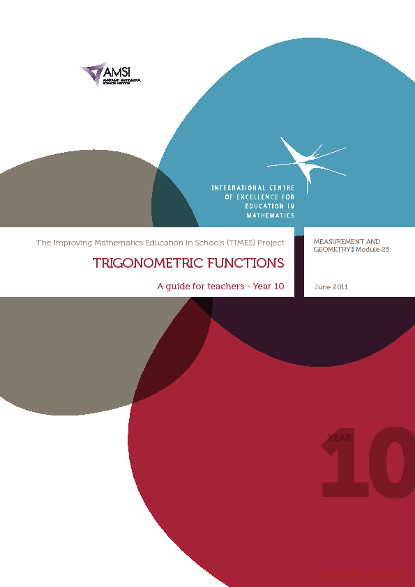 Tutorial Trigonometric Functions - A guide for teachers 1