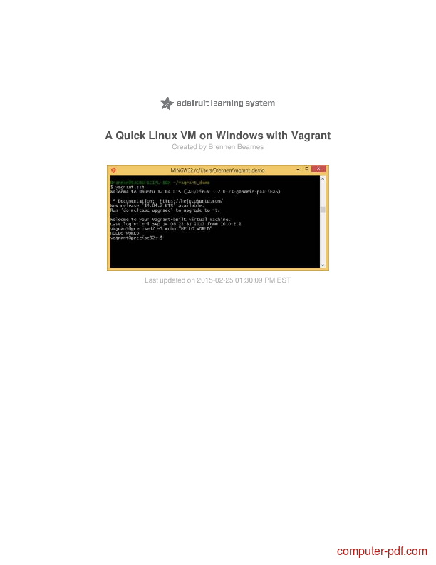 Tutorial A Quick Linux VM on Windows with Vagrant 1