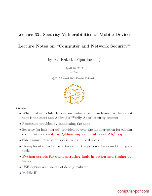 Tutorial Security Vulnerabilities of Mobile Devices 1