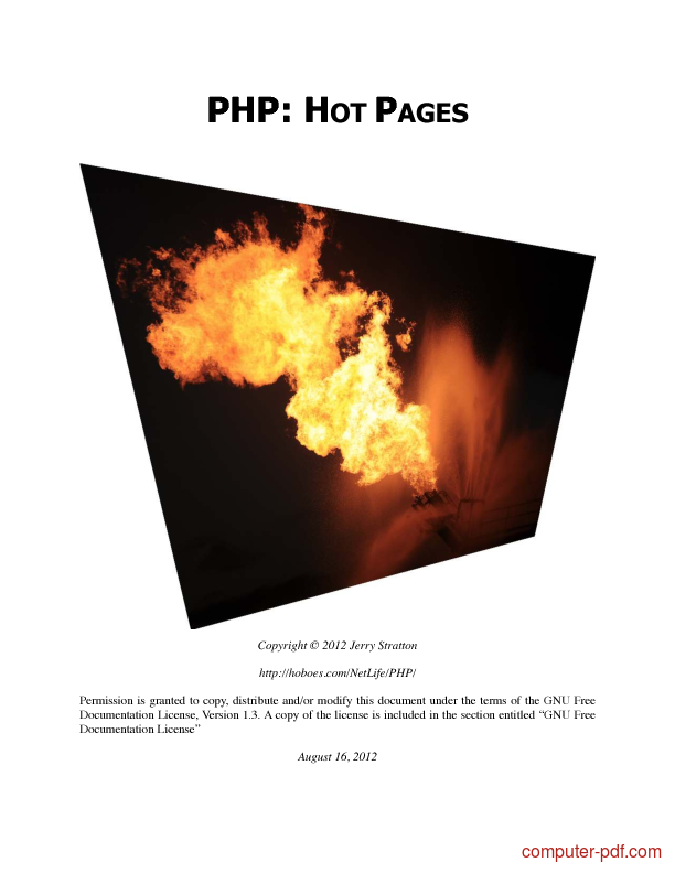 Tutorial PHP Hot Pages 1