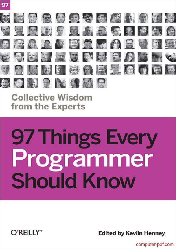Tutorial 97 Things Every Programmer Should Know 1