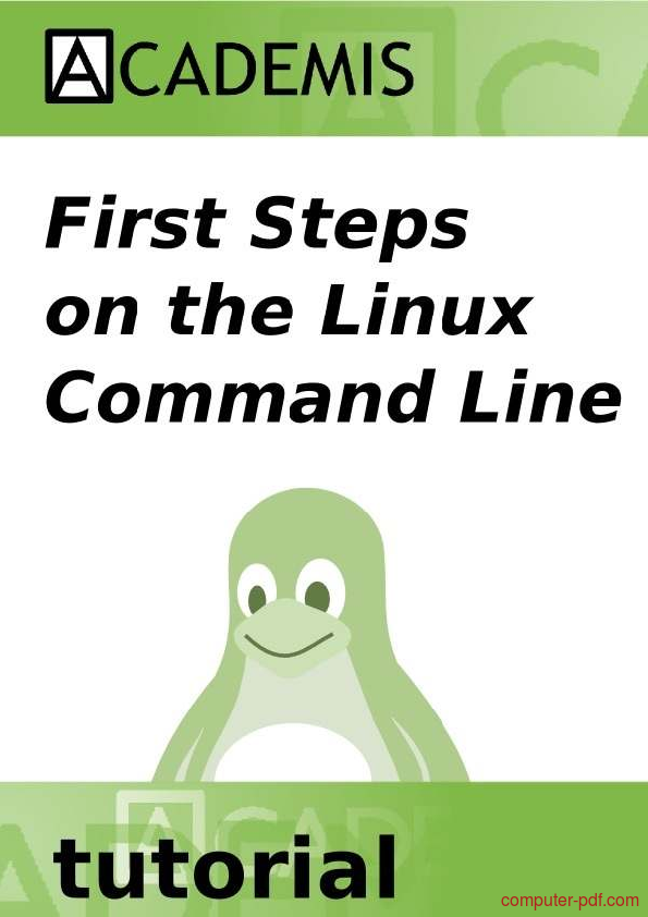 Tutorial First steps on the Linux Command Line 1
