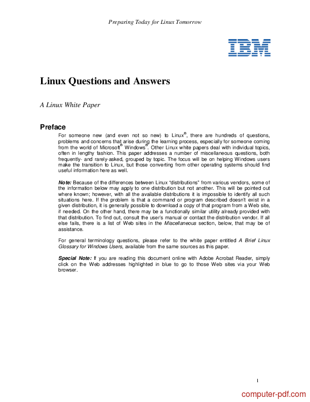 Tutorial Linux Questions and Answers