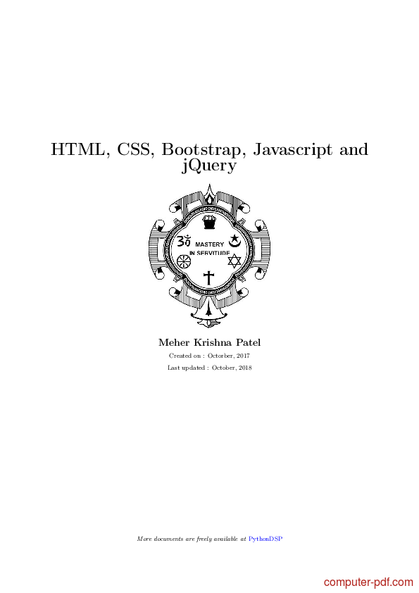 Tutorial HTML, CSS, Bootstrap, Javascript and jQuery