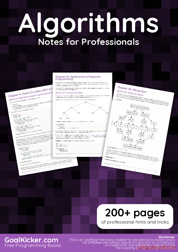 Tutorial Algorithms Notes for Professionals book